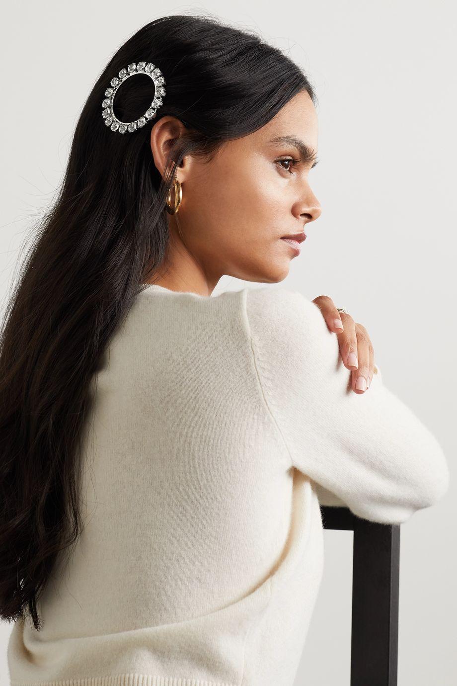 LELET NY Olivia silver-tone crystal hair clip