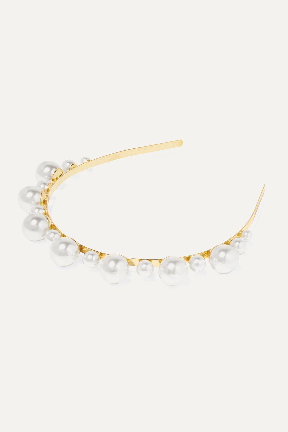LELET NY Gold-plated faux pearl headband