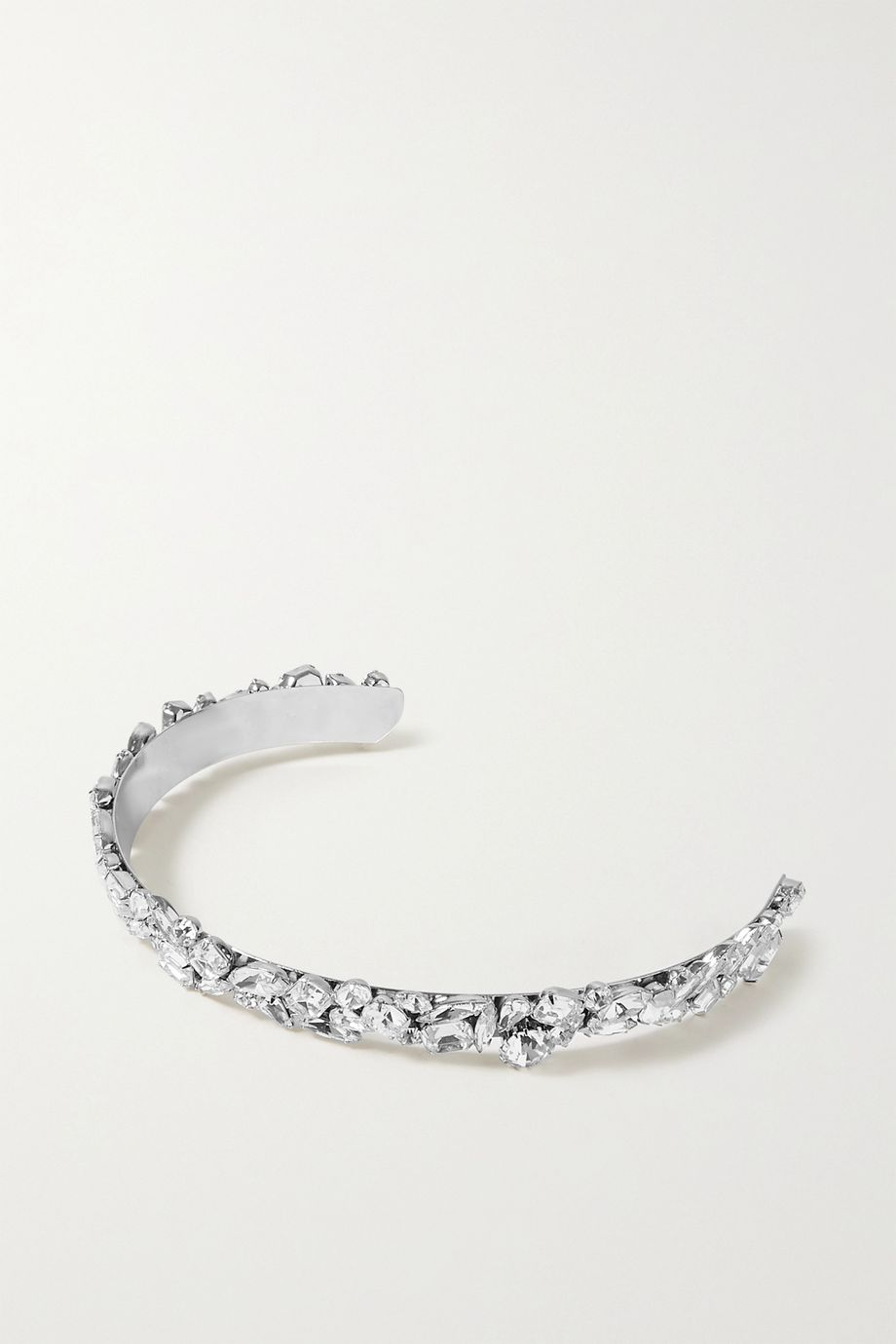 LELET NY Kate rhodium-plated crystal headband