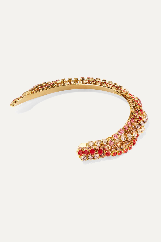 LELET NY Gold-plated crystal headband