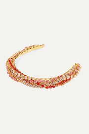 Gold-plated crystal headband