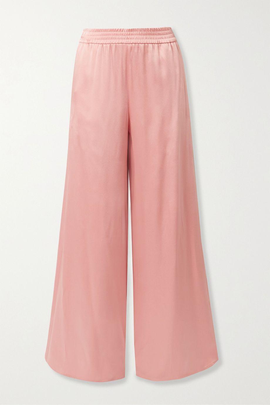 Sally LaPointe Satin-crepe wide-leg pants