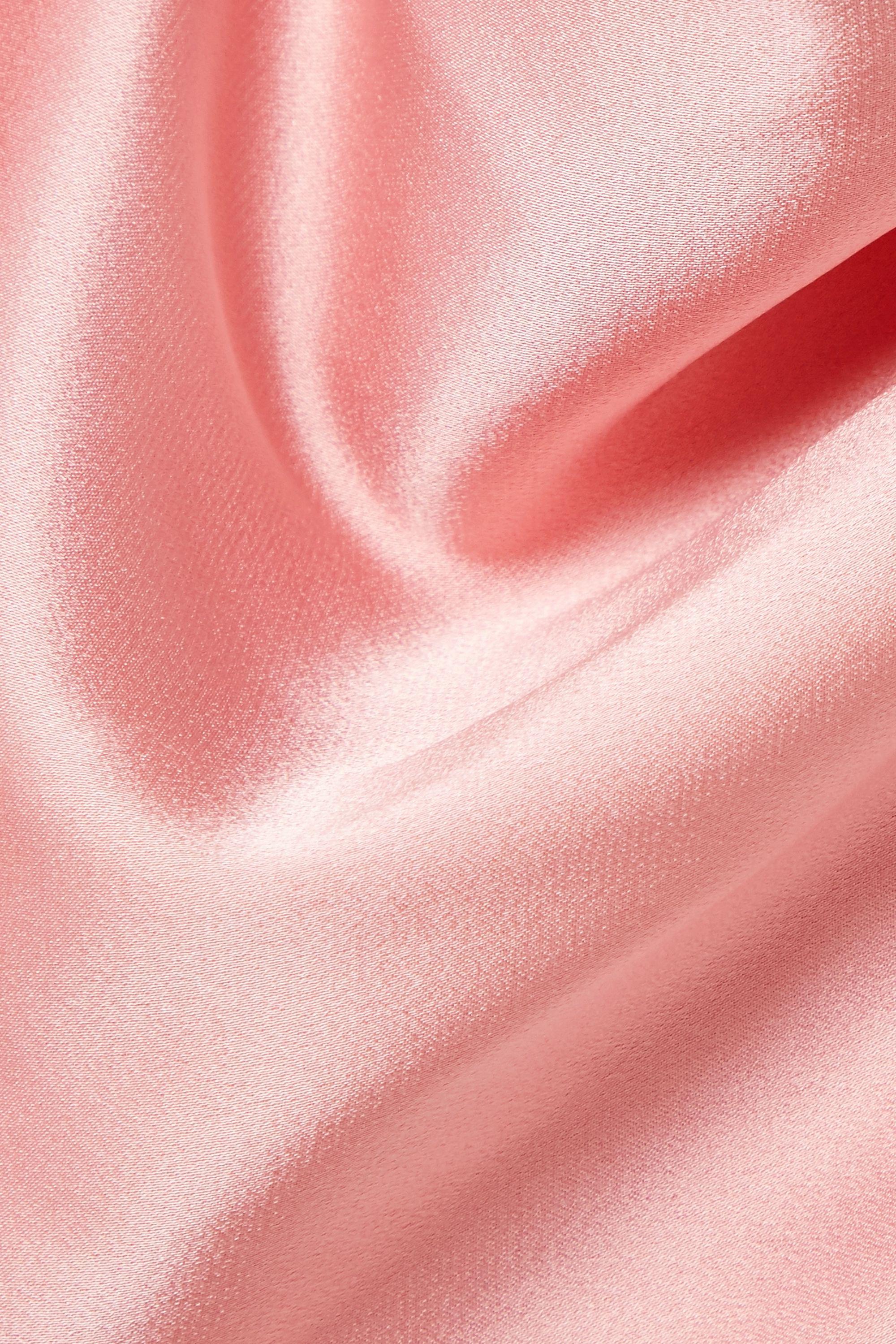 LAPOINTE 垂坠缎面绉纱上衣