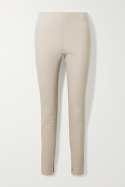 Theory Stretch-leather leggings