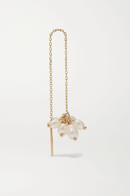 Wwake + NET SUSTAIN Cloudburst gold pearl earring