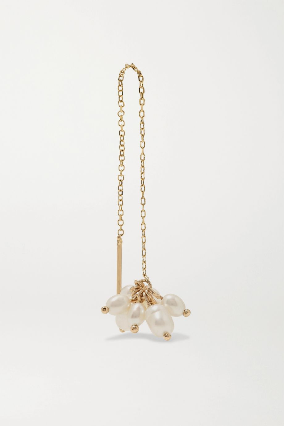 Wwake + NET SUSTAIN Cloudburst gold pearl earring