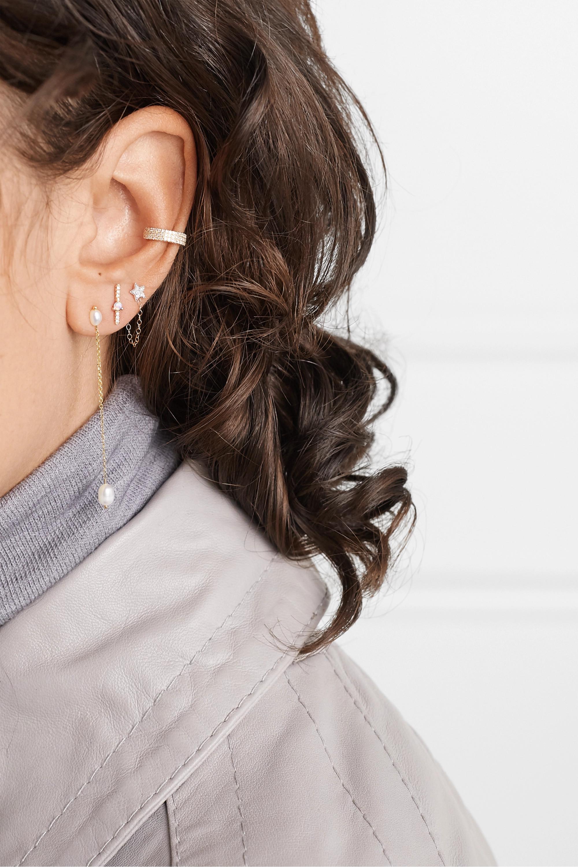 Wwake + NET SUSTAIN Shower gold pearl earrings