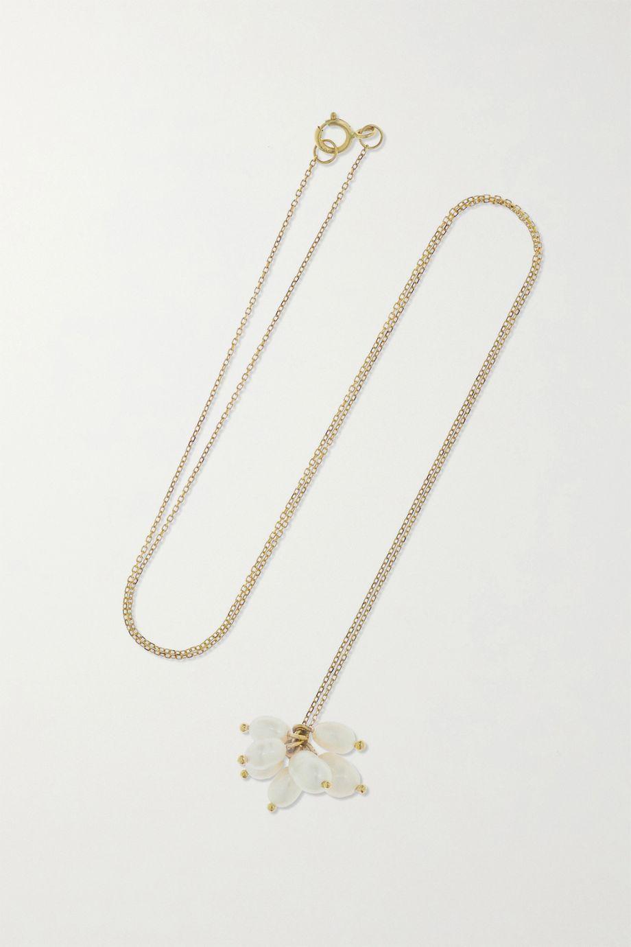 Wwake + NET SUSTAIN Cloudburst gold pearl necklace