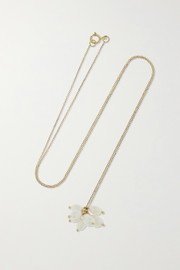+ NET SUSTAIN Cloudburst gold pearl necklace