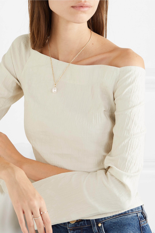 Loren Stewart 14-karat gold freshwater pearl necklace