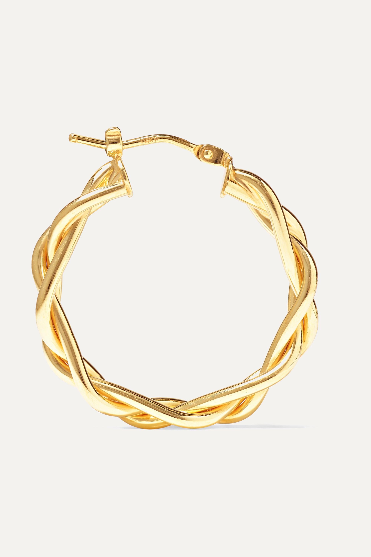 Loren Stewart + NET SUSTAIN 14-karat gold hoop earrings