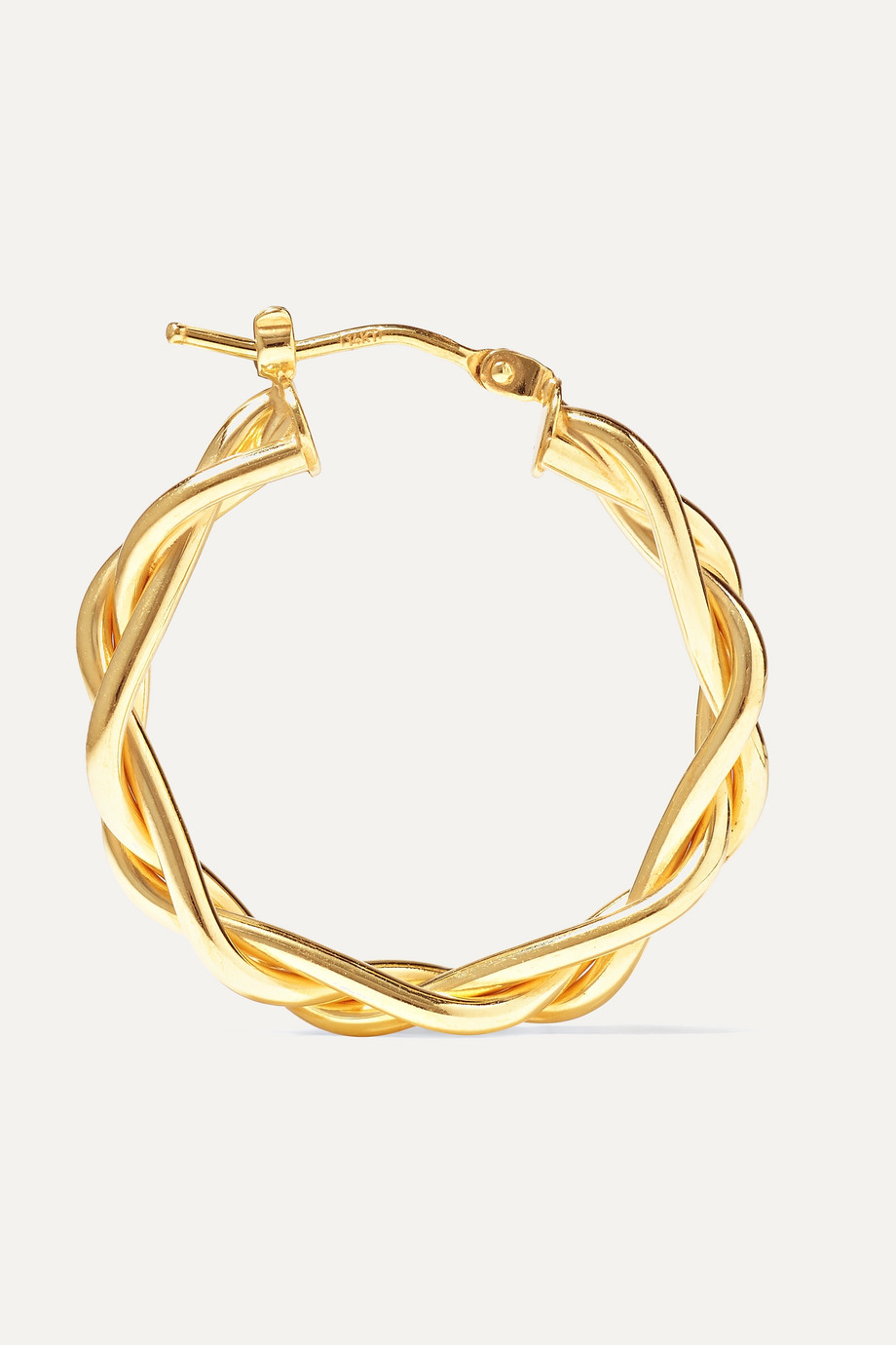 Loren Stewart + NET SUSTAIN 14-karat gold hoop earrings