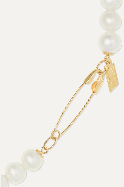 Loren Stewart 14-karat gold pearl bracelet