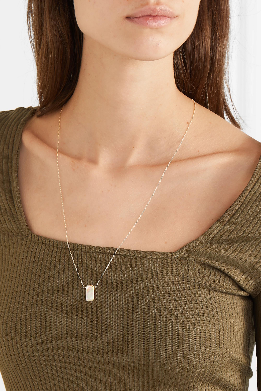 Loren Stewart 14-karat gold pearl necklace