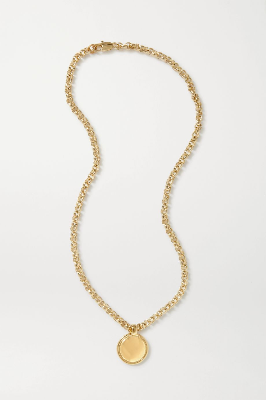 Laura Lombardi + NET SUSTAIN Rosa gold-plated necklace