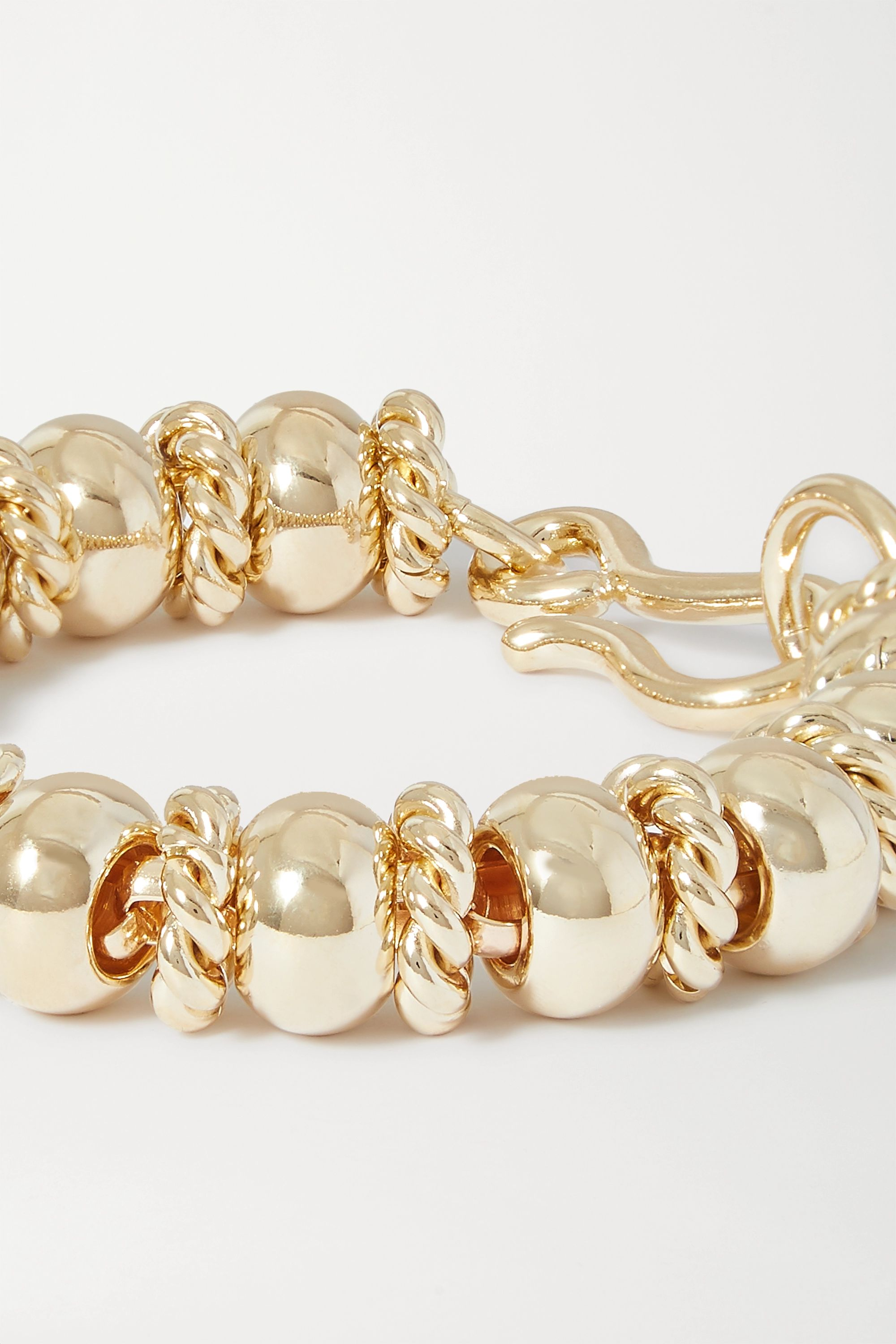 Laura Lombardi + NET SUSTAIN Serena gold-plated bracelet