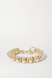 + NET SUSTAIN Serena gold-plated bracelet