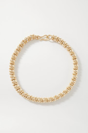 + NET SUSTAIN Serena gold-plated necklace