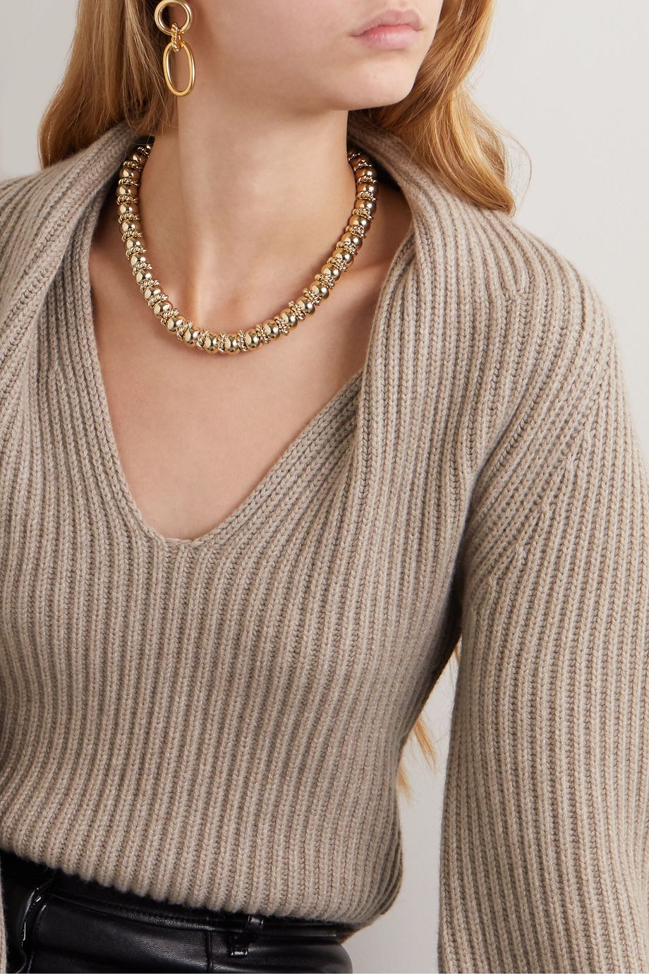 Laura Lombardi + NET SUSTAIN Serena gold-plated necklace