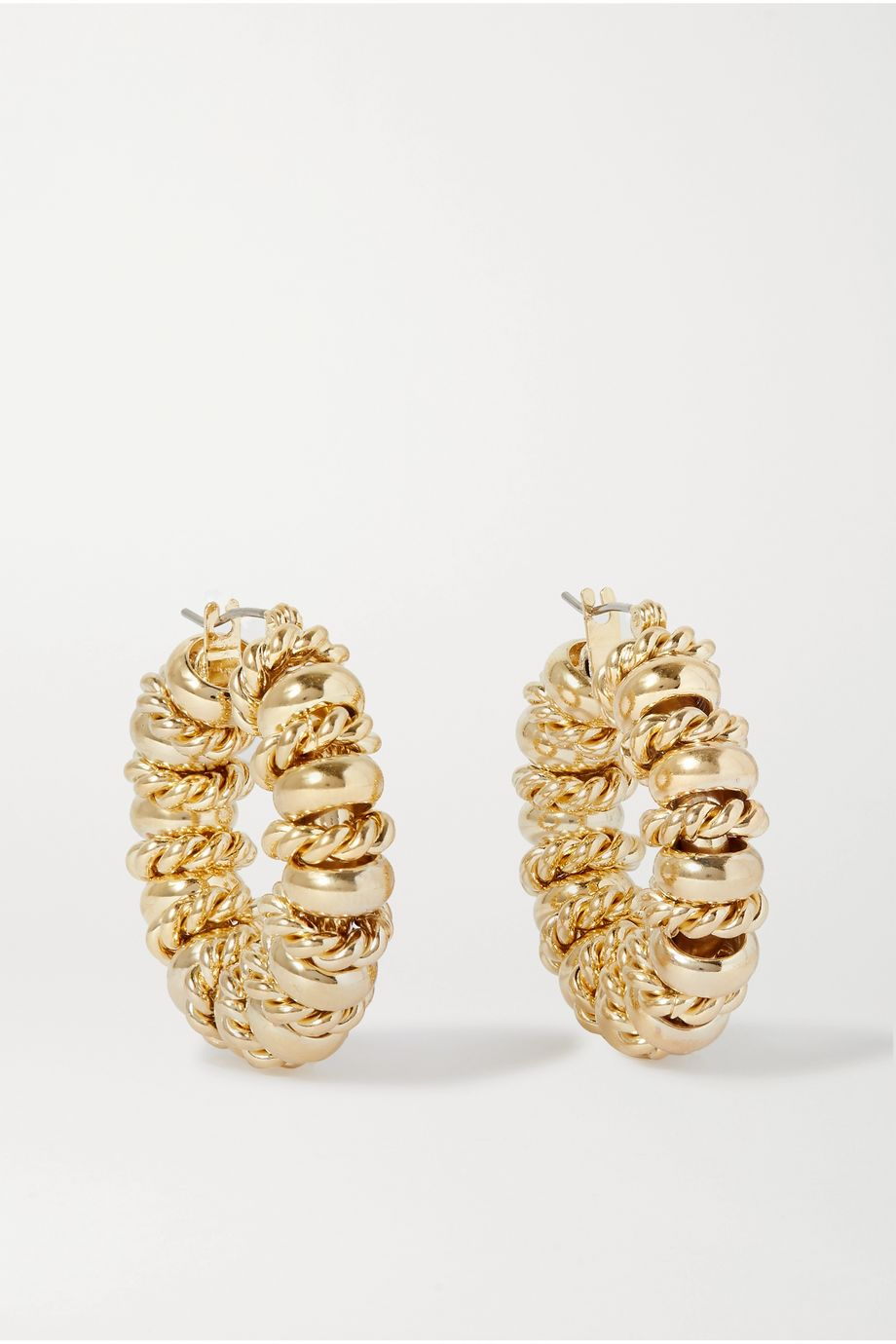 Laura Lombardi + NET SUSTAIN Serena gold-plated hoop earrings