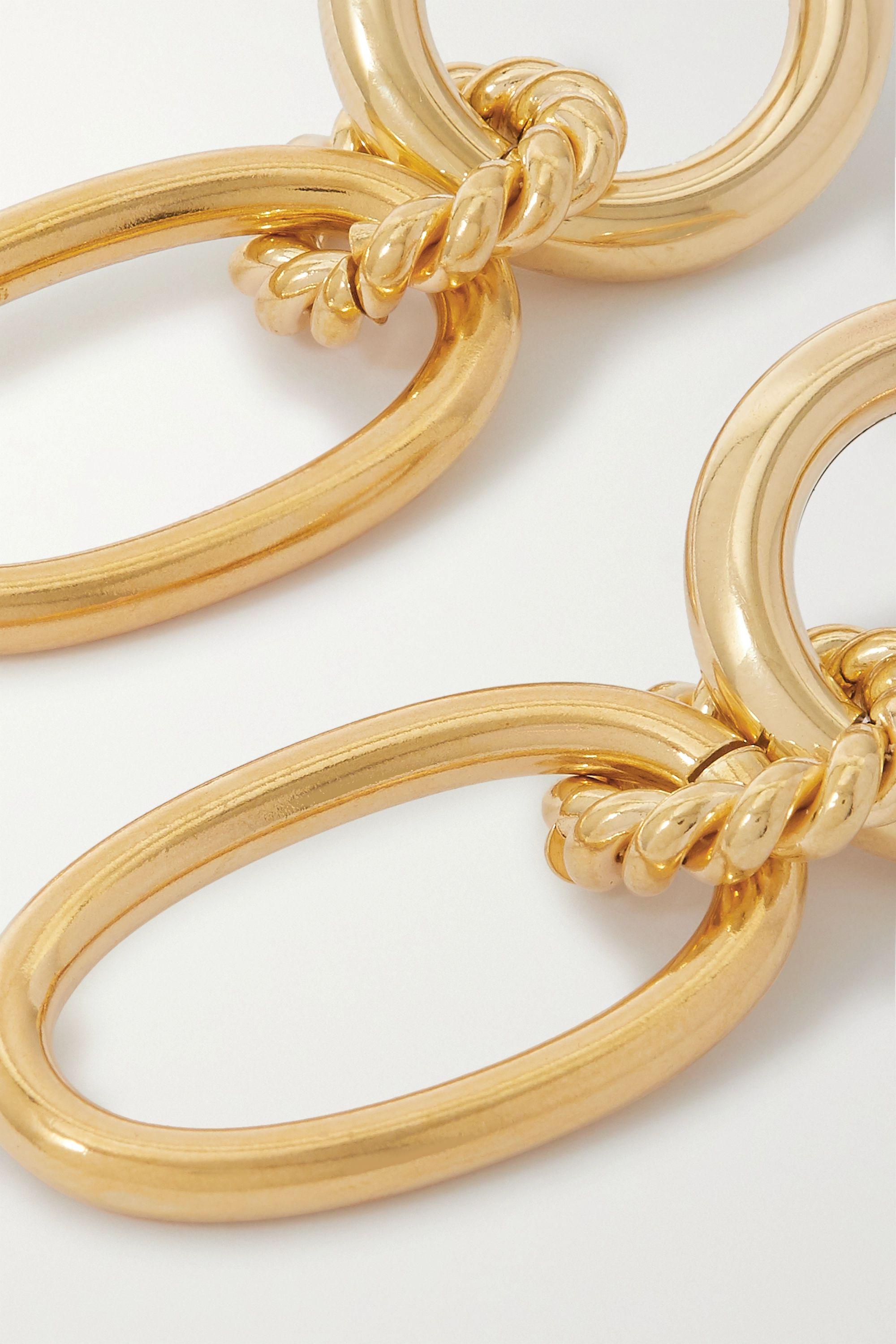 Laura Lombardi + NET SUSTAIN Lou braided gold-plated earrings