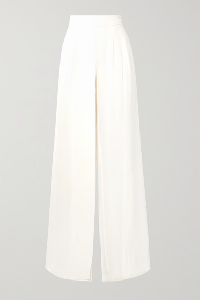 Adam Lippes Pants Crepe wide-leg pants