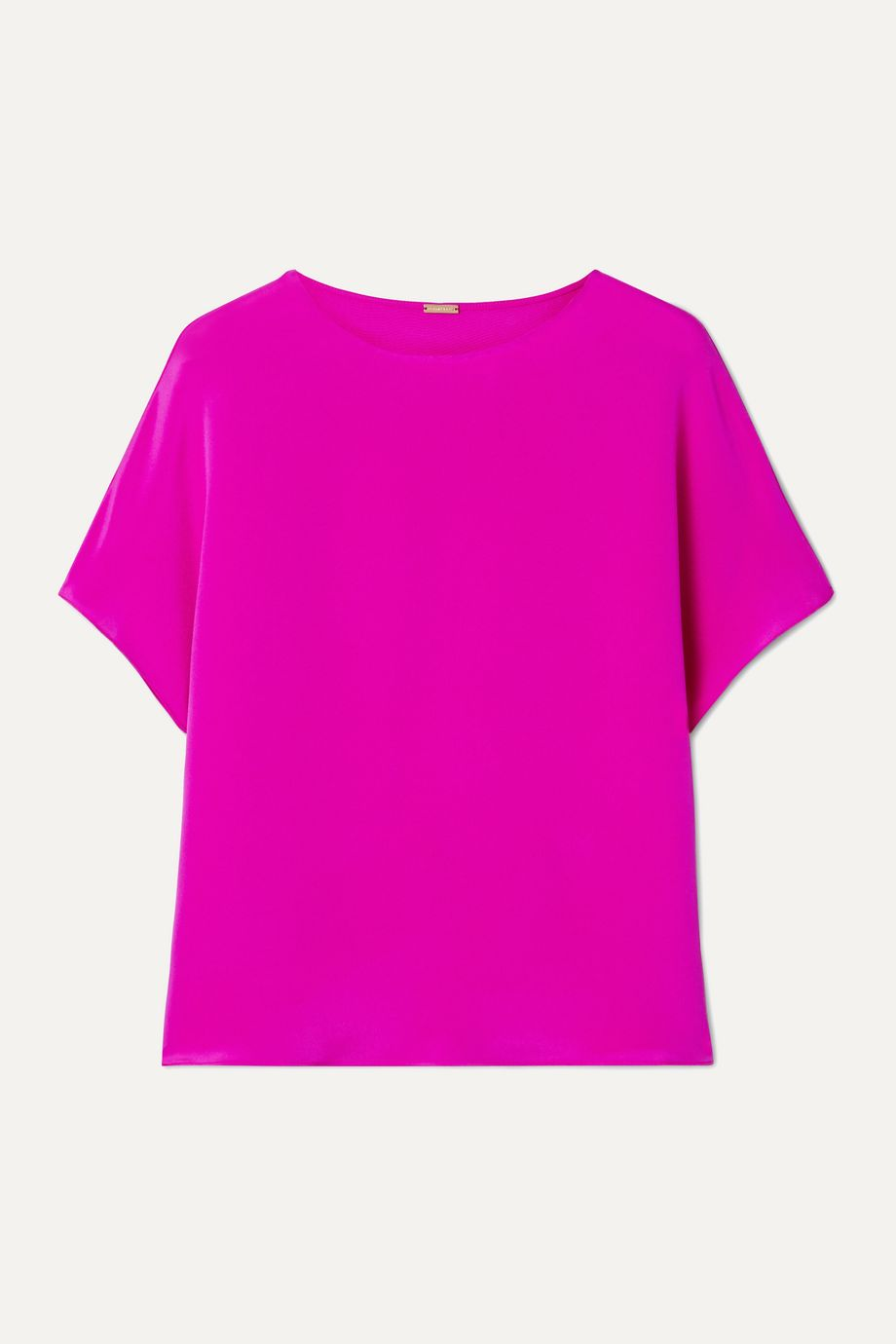 Adam Lippes Neon silk crepe de chine top