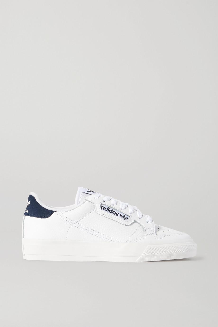 adidas Originals Continental 80 Sneakers aus strukturiertem Leder mit Velourslederbesatz