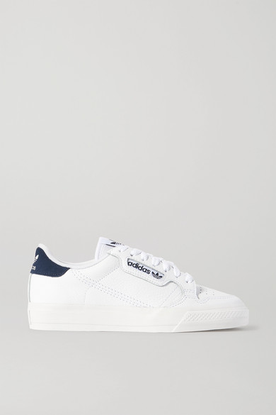 Continental 80 suede trimmed textured leather sneakers