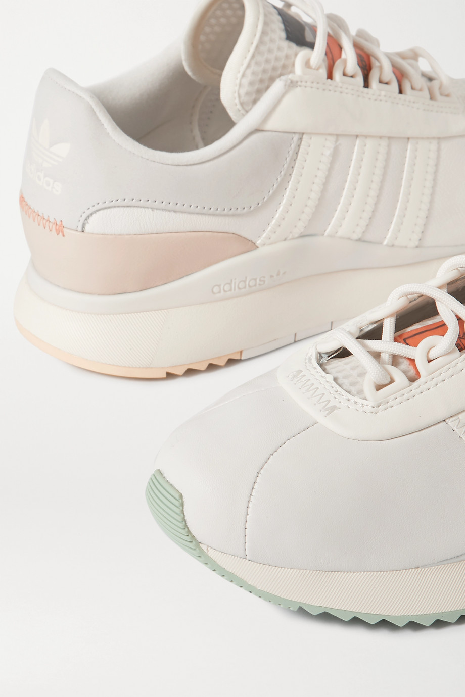 adidas Originals SL Andridge suede-trimmed leather and mesh sneakers
