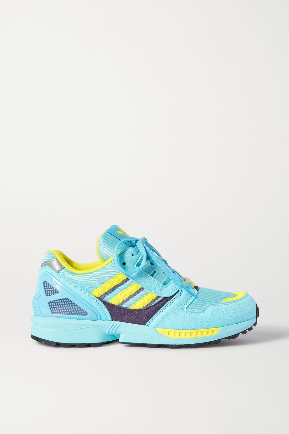 adidas Originals ZX 8000 faux suede and mesh sneakers