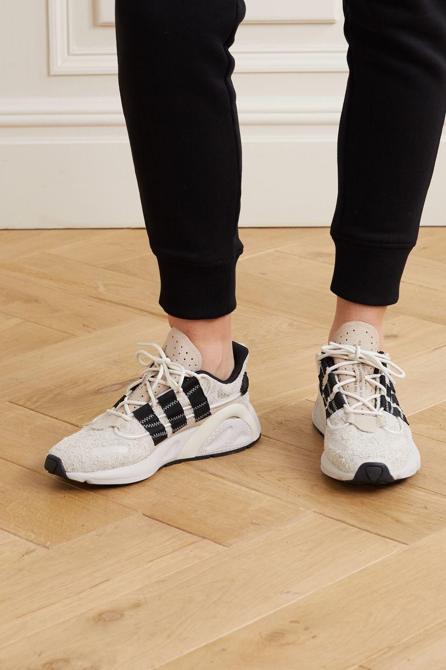 adidas Originals LXCON 罗缎边饰绒面革运动鞋