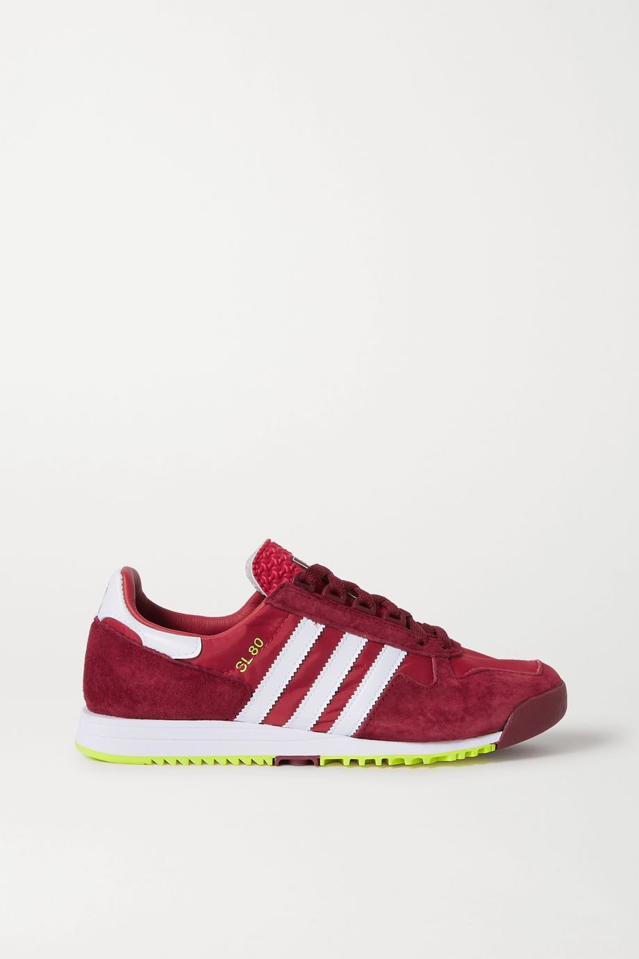 adidas Originals SL 80 suede, leather and nylon sneakers
