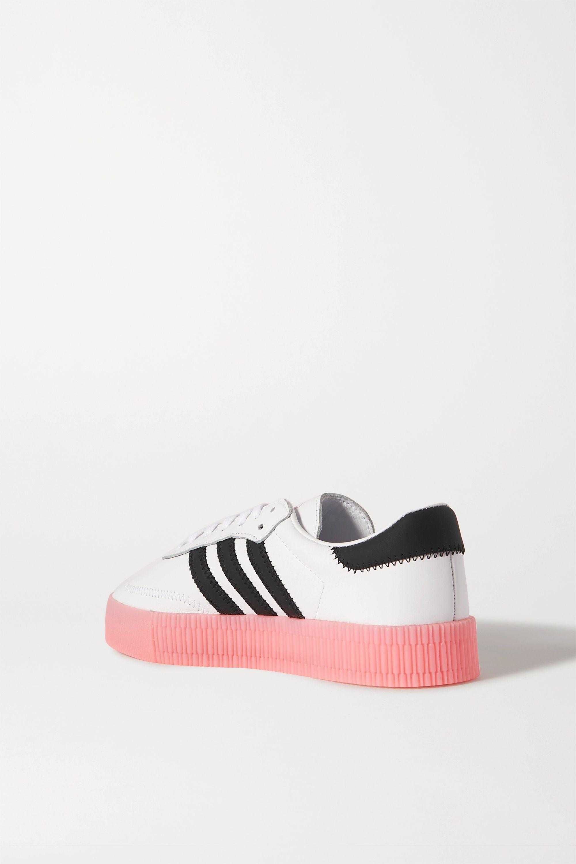 adidas Originals SambaRose 印花皮革厚底运动鞋