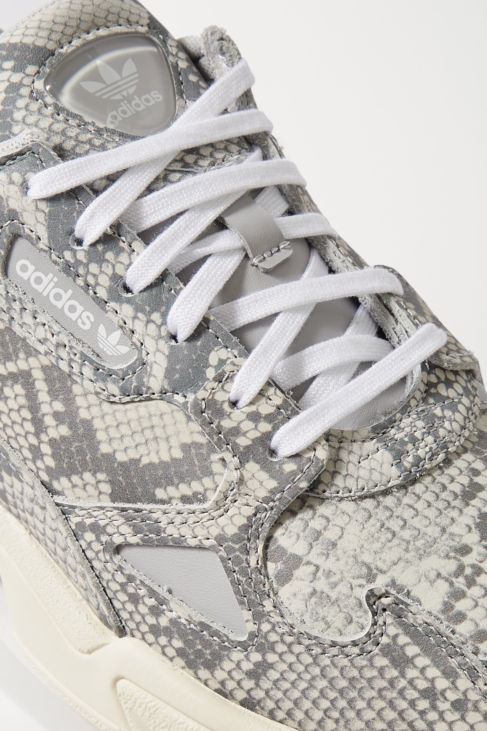adidas Originals Falcon snake-effect leather sneakers