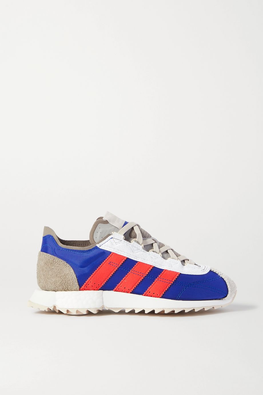 adidas Originals SL 7600 leather-trimmed shell, suede and mesh sneakers