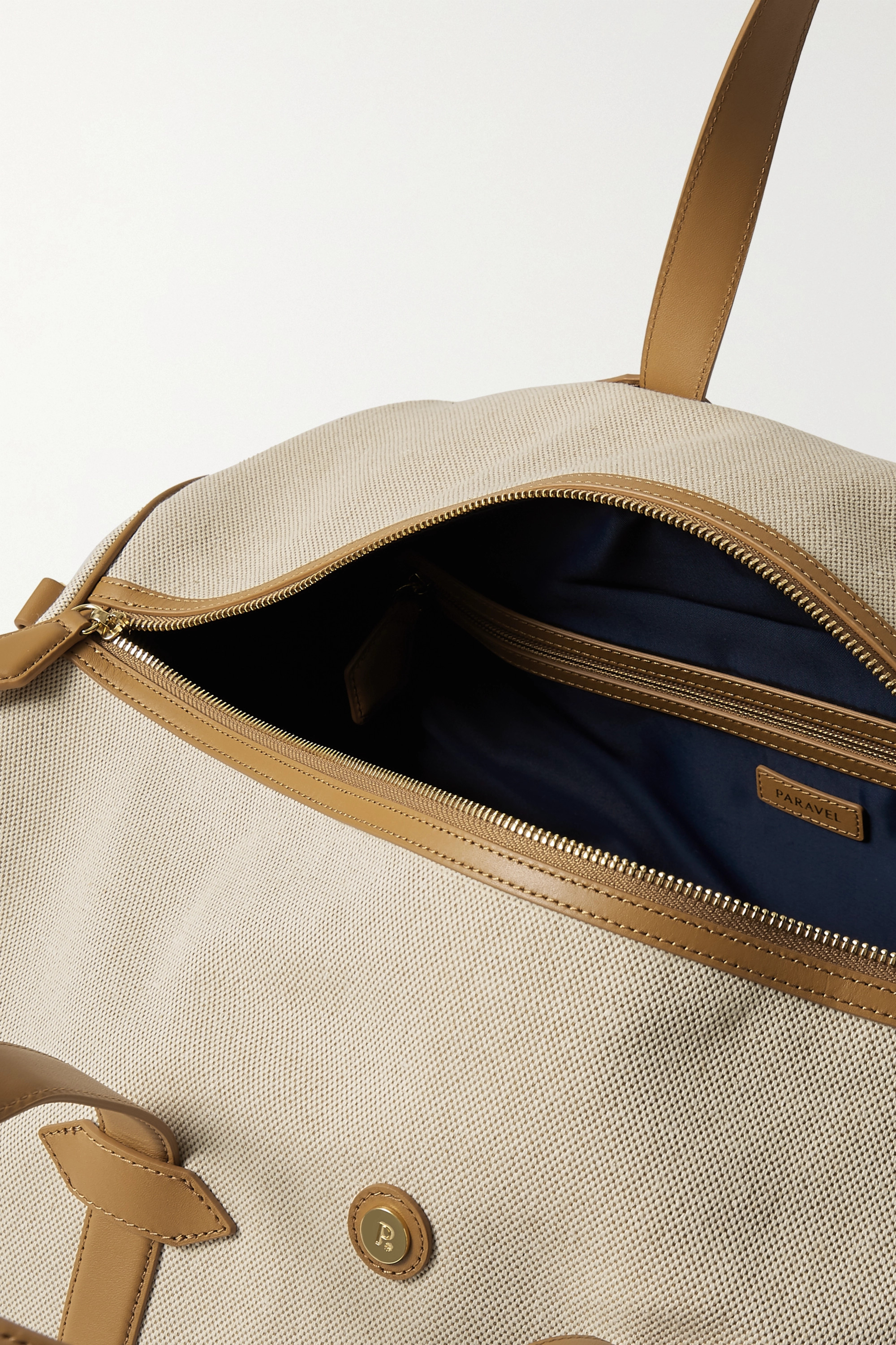 Paravel Main Line Duffel leather-trimmed canvas weekend bag