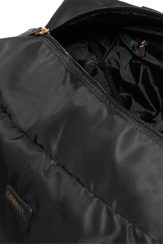 Paravel 折叠式皮革罗缎边饰软壳面料度假包