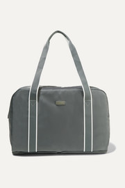 Paravel Fold-up leather and grosgrain-trimmed shell weekend bag