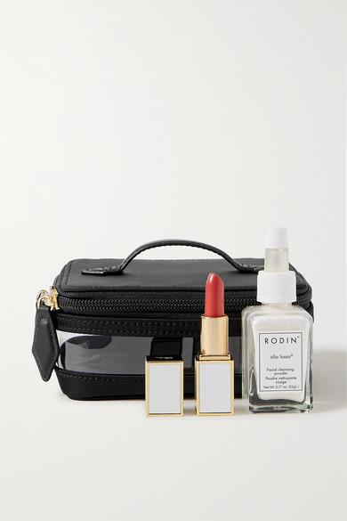 Mini See All Vegan Leather Trimmed Nylon And Tpu Cosmetics Case by Paravel
