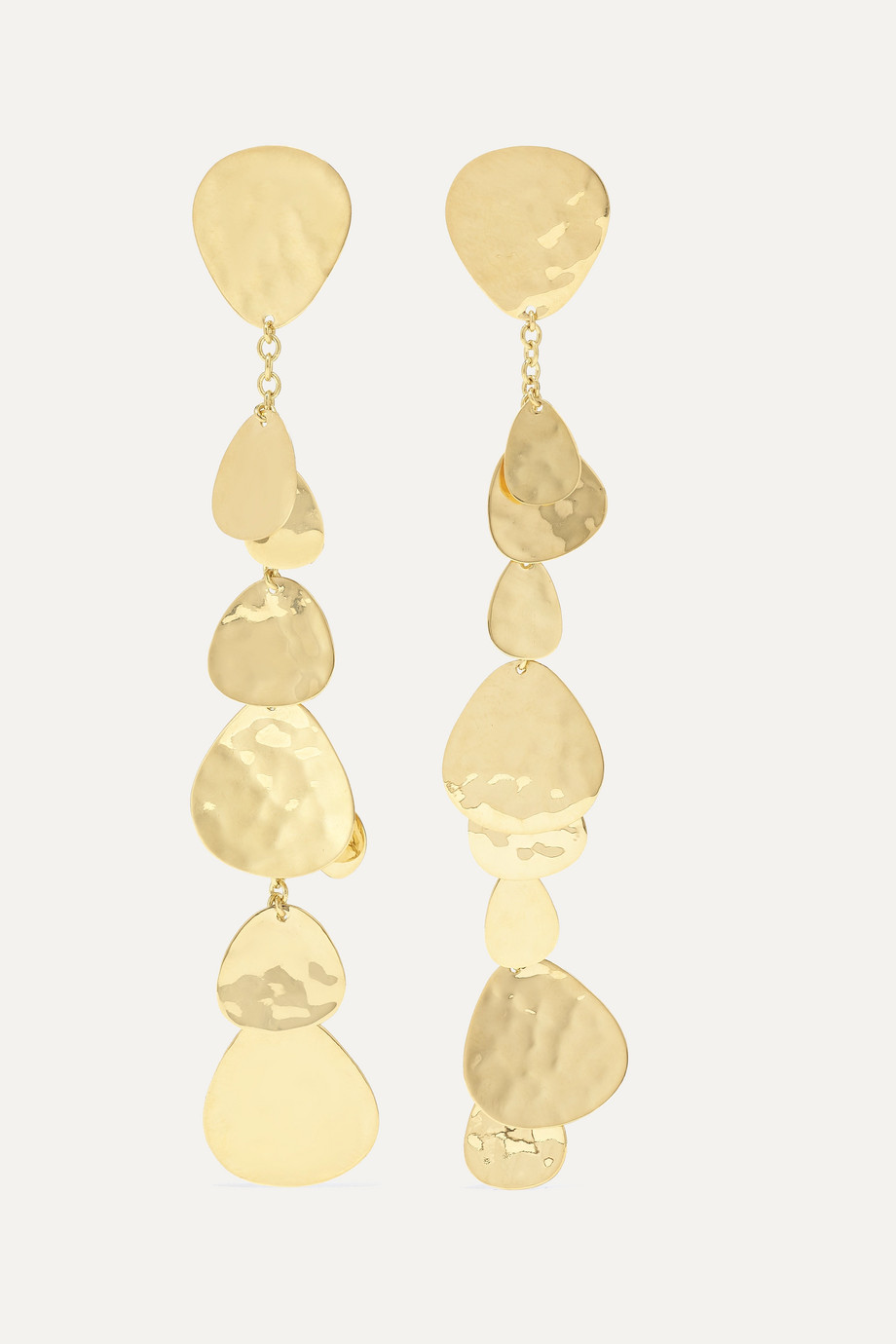 Ippolita Crinkle Cascade 18-karat gold clip earrings