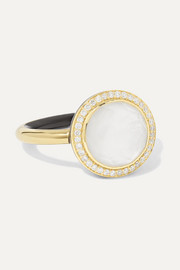 Lollipop Carnevale 18-karat gold, mother-of-pearl, diamond and ceramic ring