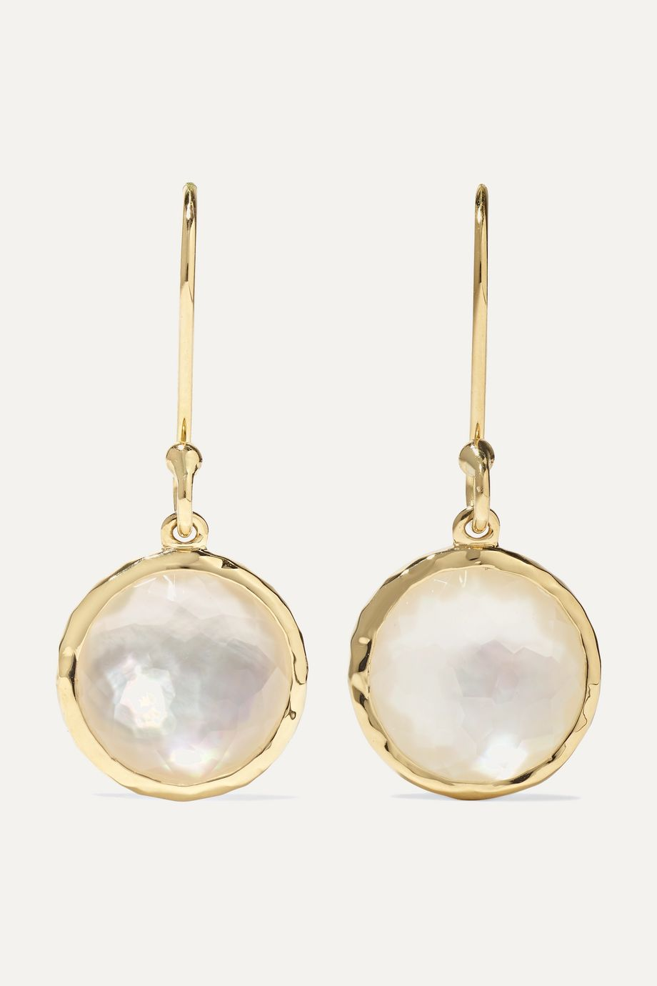 Ippolita Lollipop 18-karat gold mother-of-pearl earrings
