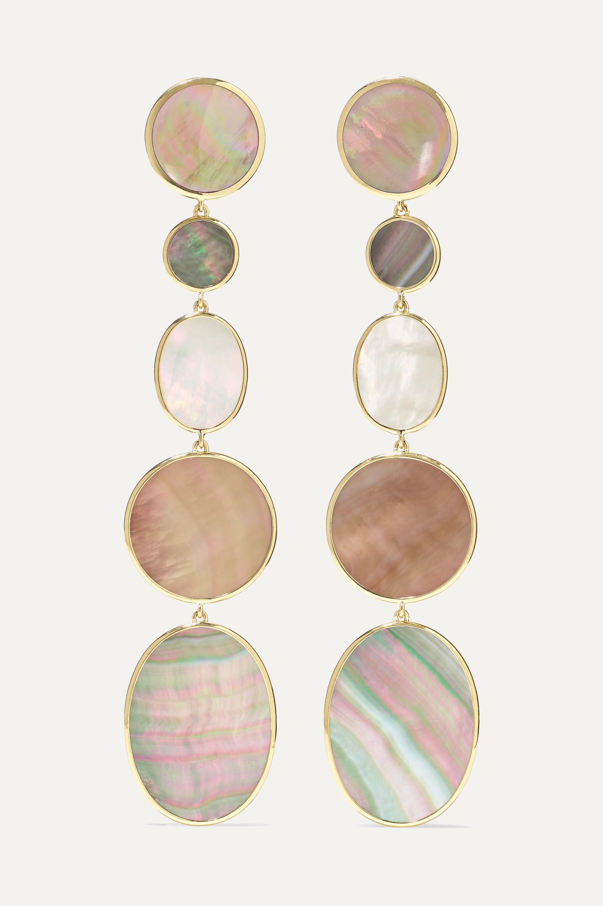 Ippolita - Polished Rock Candy 18-karat gold, shell and mother-of-pearl earrings