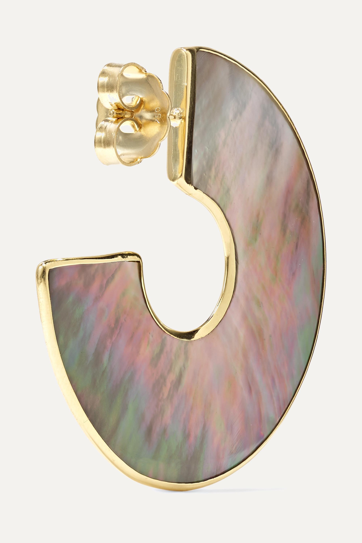 Ippolita Polished Rock Candy 18-karat gold shell hoop earrings