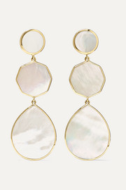 Polished Rock Candy 18-karat gold mother-of-pearl earrings