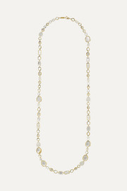 Ippolita Rock Candy Sofia 18-karat gold, mother-of-pearl, quartz and moonstone necklace