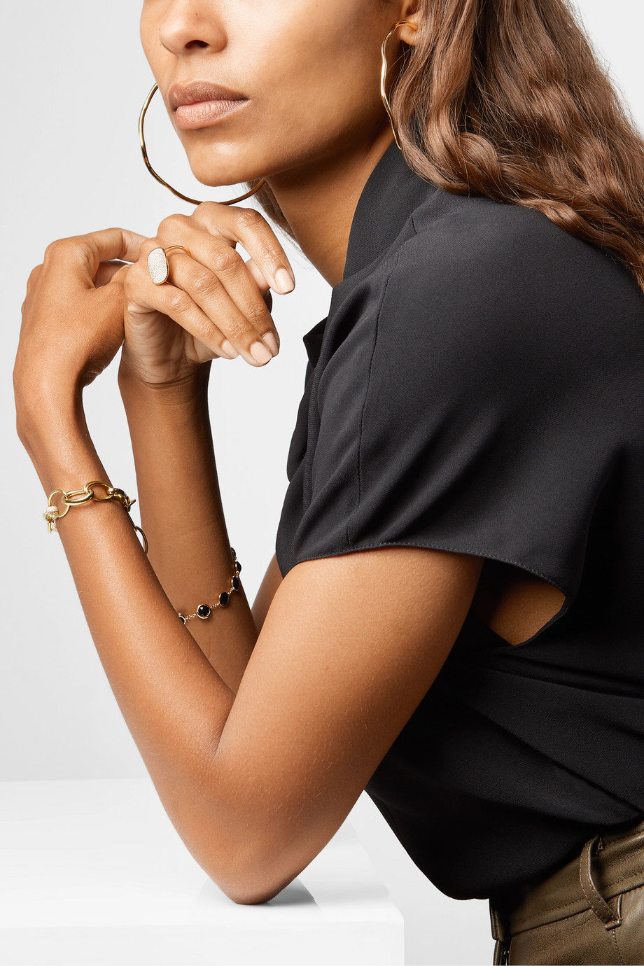 Ippolita Stardust 18-karat gold diamond bracelet