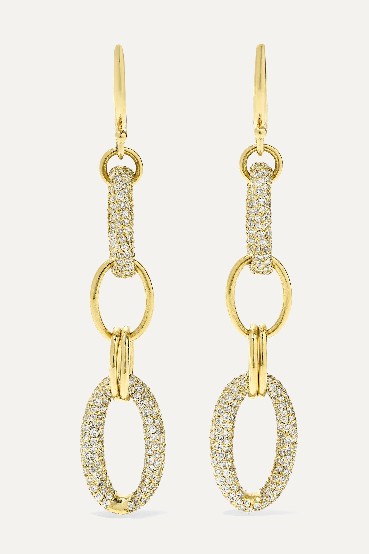 Ippolita - Stardust Link 18-karat gold diamond earrings