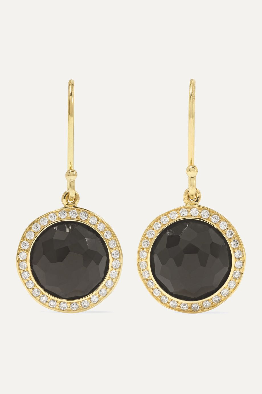 Ippolita Boucles d'oreilles en or 18 carats, onyx et diamants Lollipop